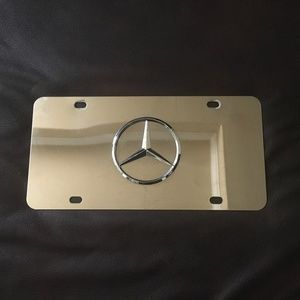 Mercedes Benz Star Mirror Chrome Stainless Steel
